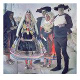 Typical Lagarterans, 1912 Giclee Print by Joaquín Sorolla y Bastida