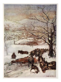 Snow Plough Drawn by Eight or Ten Horses, 1905 Giclee Print by Nico Jungman