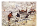 Shrimp-Fishing, 1904 Giclee Print by Nico Jungman