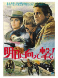 Butch Cassidy and the Sundance Kid, Japanese Movie Poster, 1969 Lámina giclée