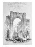 Rievaulx Abbey, from the title page of &#39;Monastic Ruins of Yorkshire&#39; Giclee Print by William Richardson