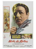 On the Waterfront, Argentine Movie Poster, 1954 Giclee-vedos