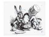 Mad Hatter, March Hare and Dormouse in Teapot, Illustration, 'Alice's Adventures in Wonderland' Giclee Print by John Tenniel