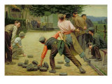 A Game of Bourles in Flanders, 1911 Giclee Print by Remy Cogghe