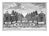 The Gardens of Count Althan, Vienna, engraved by Johann Gottfried Thelott Giclee Print by Salomon Kleiner