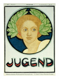 Young Woman with a Wreath of Laurel, illustration from 'Jugend' Magazine, 24th July 1897 Giclee Print by Ludwig Raders
