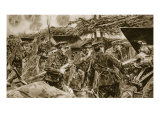 Keep your mouths open!' from 'The Illustrated War News', 1916 Giclee Print by Richard Caton Woodville