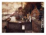 Noordervaldeursluis, Zaandam, 1904 Giclee Print by Nico Jungman
