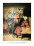 Scrooge and The Ghost of Marley, from Dickens&#39; &#39;A Christmas Carol&#39; Giclee Print by Arthur Rackham