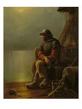 The Pilot Keeps Watch, 1851 Giclee Print by Karl Schlesinger