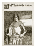 Sir Mordred the Traitor, illustration from 'The Story of Grail and the Passing of Arthur', c.1910 Giclee Print by Howard Pyle