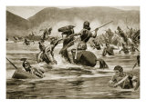 The Battle of Lake Trasimenus, 217 B.C. Giclee Print by Ernest Prater