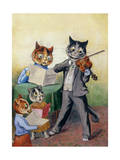 The Mewsical Family Giclee Print by Louis Wain