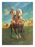 Fight to the Finish Giclee Print by Charles Schreyvogel