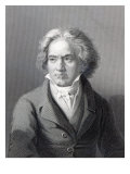 Ludwig Van Beethoven, Engraved by William Holl the Younger Giclee Print by August Karl Friedrich von Kloeber