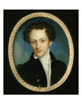 Portrait of an Unknown Man in a Blue Tail-coat, 1829 Giclee Print by Pietro de Rossi