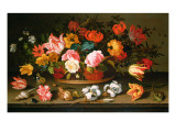 Basket of Flowers, 1625 Giclee Print by Balthasar van der Ast