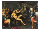 The Martyrdom of St. Lawrence, c.1621/22 Giclee Print by Valentin de Boulogne