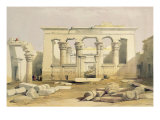 "Portico of the Temple of Kalabshah, from ""Egypt and Nubia"", Vol.1 Giclee Print by David Roberts"