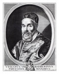 Pope Urban VIII, Engraved by Willem Outgertsz Akersloot Giclee Print by Simon Vouet