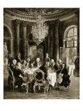 Frederick the Great Entertaining Voltaire at Sanssouci, Germany Giclee Print by Adolph Friedrich Erdmann von Menzel