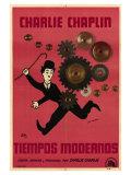 Modern Times, Argentine Movie Poster, 1936 Print