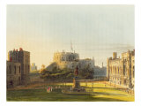 The Upper Ward, Windsor Castle, from 'Royal Residences', engraved by Thomas Sutherland Giclee Print by Charles Wild
