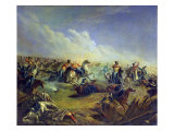 The Guard Hussars Attacking Near Warsaw on August 26Th, 1831, 1837 Giclee Print by Mikhail Yuryevich Lermontov