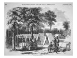 Pennsylvania Soldiers Voting in September, from 'Harper's Weekly', 29th October 1864 Giclee Print by Alfred R. Waud