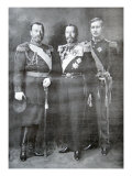 Tsar Nicholas II of Russia, King George V of Great Britain and King Albert I of Belgium, 1914 Giclee Print
