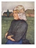 Old Woman of Drenthe, 1904 Giclee Print by Nico Jungman
