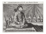 Portrait of the Old Viceroy, from an Account of a Dutch Embassy to China, 1665 Giclee Print by Jacob Van Meurs