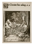 Sir Geraint Lies Asleep, Illustration from 'The Story of Grail and the Passing of Arthur', C.1910 Giclee Print by Howard Pyle