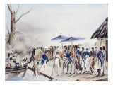 Rose de Freycinet and her Husband Arriving at Diely, Timor Giclee Print by Jacques Etienne Victor Arago