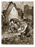 William Fatally Injured at Mantes, Illustration from 'Hutchinson's Story of British Nation', C.1920 Giclee Print by Frank Gillett