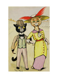 The Modern 'Arry and 'Arriet, 1913 Giclee Print by Louis Wain