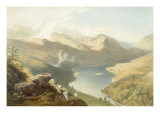 Grasmere from Langdale Fell, from 'The English Lake District', 1853 Giclee Print by James Baker Pyne