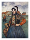 A Girl of Marken, 1904 Giclee Print by Nico Jungman
