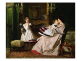 Motherly Love Reproduction proc&#233;d&#233; gicl&#233;e par Gustave Leonard de Jonghe