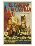 Captain From Castile, Spanish Movie Poster, 1947 Prints