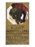 Poster for an Exhibition of Secessionist Art, 1893 Gicleetryck av Franz von Stuck