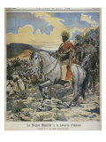 Negus of Ethiopia, Menelik II Giclee Print by Fortune Louis Meaulle