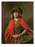 The Watercress Girl Giclee Print by Johann Zoffany