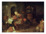 The Alchemist's Workshop Giclee Print by David Ryckaert III