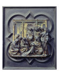 Christ Amongst the Doctors, Fourth Panel of North Doors of Baptistery of San Giovanni, 1403-24 Giclee Print by Lorenzo Ghiberti