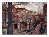 De Oude Rijn, Leiden, 1904 Giclee Print by Nico Jungman