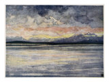 Mountains and Fjord Facing Molde, 1905 Giclee Print by Nico Jungman