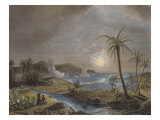The Battle of Martinique in 1674, Engraved by Chavane Giclee Print by Jean Antoine Theodore Gudin