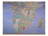 Karte von Sixteenth Jahrhundert Indien, from the 'Sala del Mappamondo' Giclée-Druck von Giovanni De' Vecchi