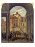 Foregate, Strand, Entrance to Boswell Court - Demolished for the Site of the New Law Courts, 1868 Giclee Print by Robert Thomas Landells